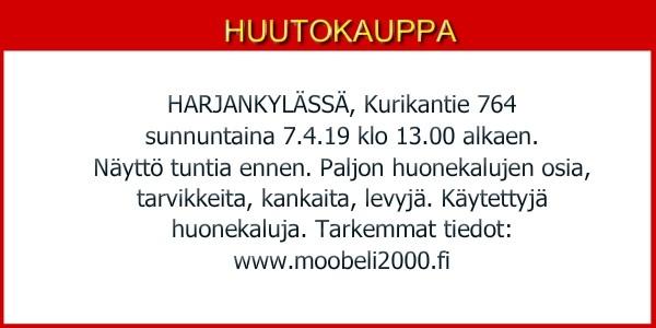 Huutokauppa Harjakylässä 7.4.19.